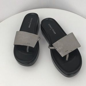 DONALD J PLINER Fifi slide sandals pewter 6M